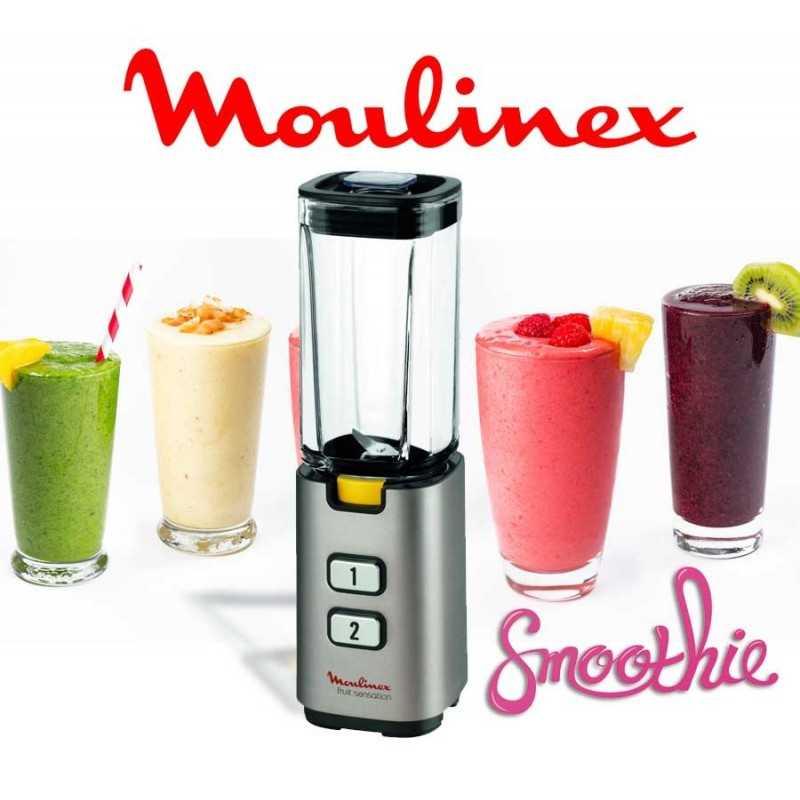 Licuadora para Smoothie con mini procesador moledor - Moulinex - EDXLM142A