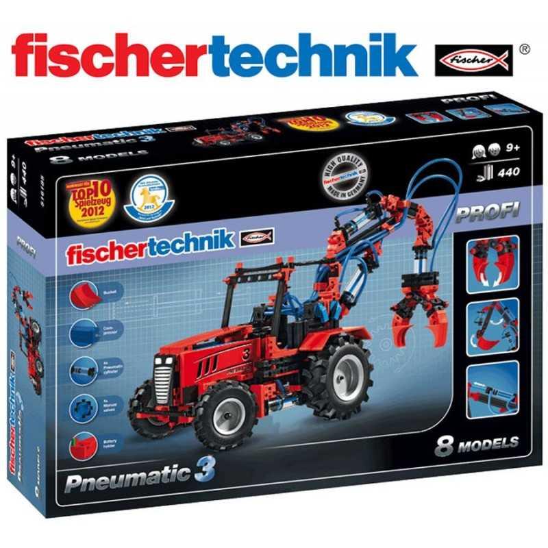 Juego Educativo de Construcción de Energía Neumática - Fischertechnik - Profi Pneumatic 3