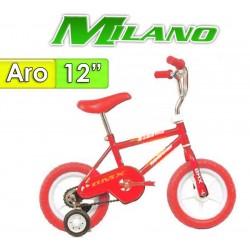 """Bici Aro 12"""" Bambino - Milano - Rojo"""
