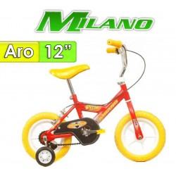 """Bici Aro 12"""" Piccolo - Milano - Rojo"""