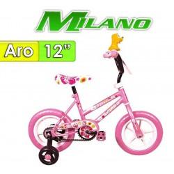 "Bici Aro 12"" Fiorenza Plus - Milano - Rosa"