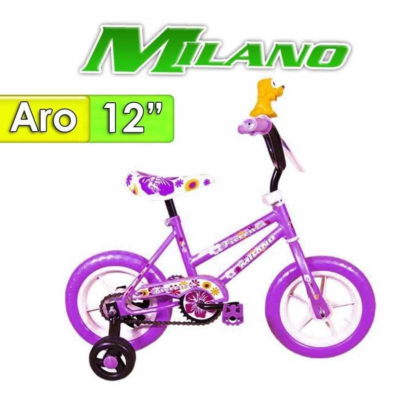 "Bici Aro 12"" Fiorenza Plus - Milano - Lila"
