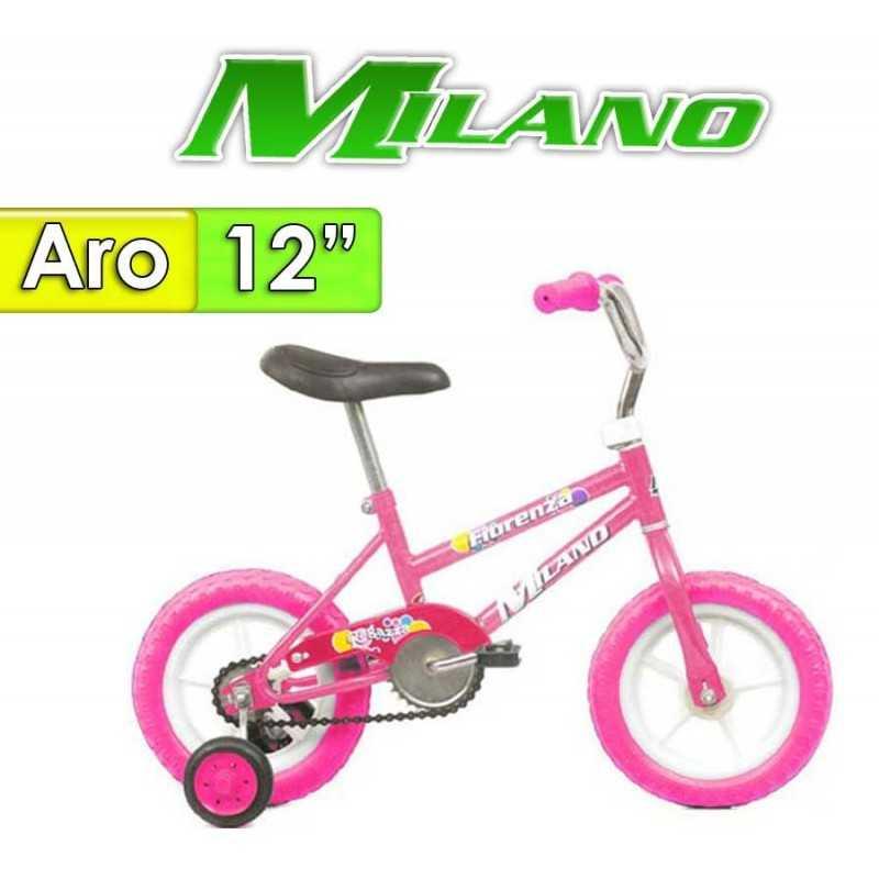 "Bici Aro 12"" Fiorenza - Milano - Rosa"