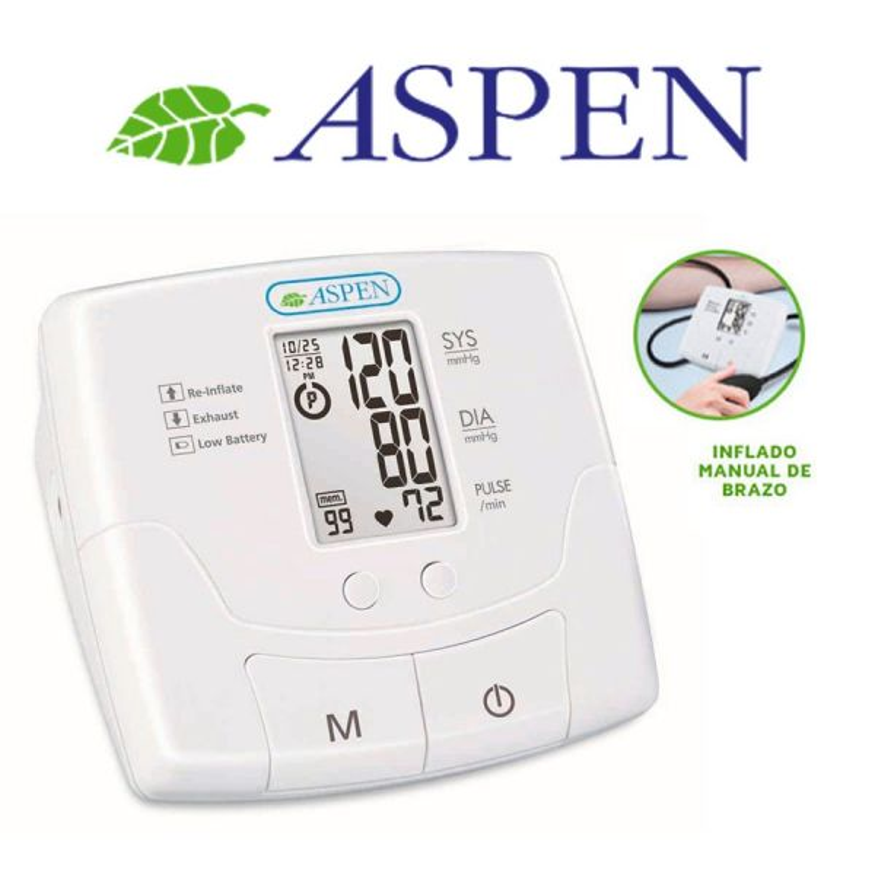 Tensiómetro digital de brazo con inflado semi automático - Aspen - MN95