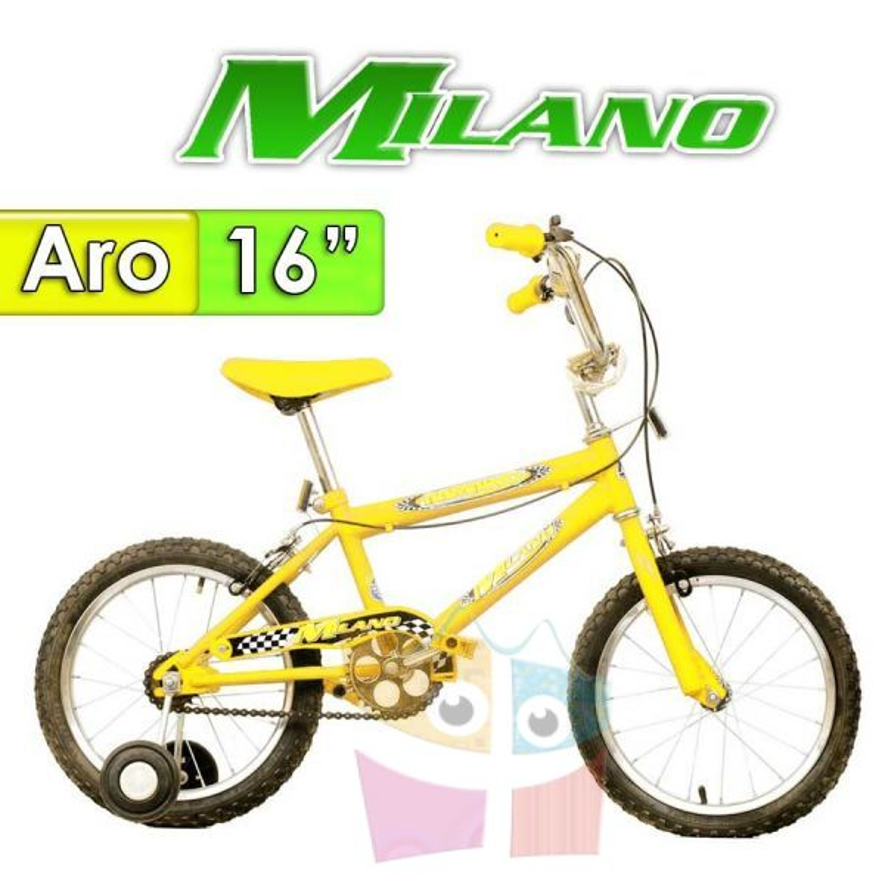 "Bici Aro 16"" Bambino - Milano - Amarilla"