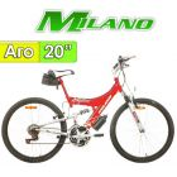 "Bici Aro 20"" Explorer con Suspension - Milano - Roja - 6 Velocidades"