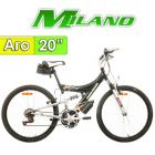 "Bici Aro 20"" Explorer con Suspension - Milano - Negra"