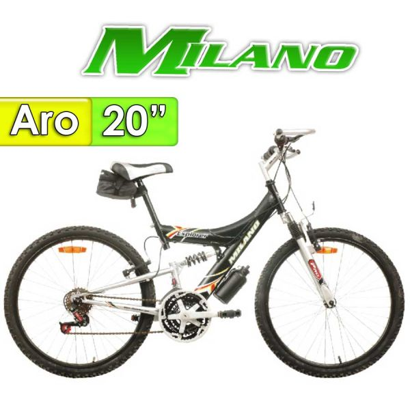 "Bici Aro 20"" Explorer con Suspension - Milano - Negra"