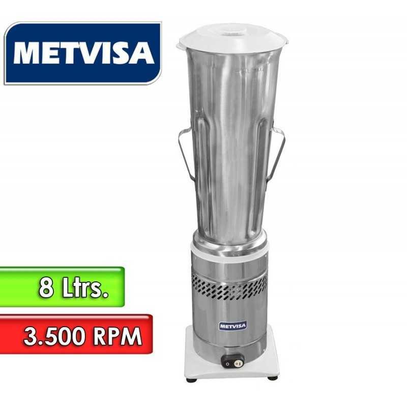 Licuadora Inoxidable de Baja Rotación de 8 Litros - Metvisa - LQL 8