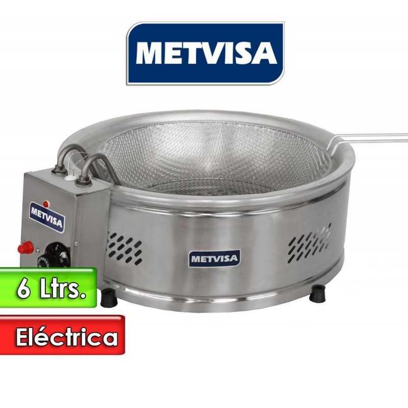 Freidora Electrica de tacho redondo de 6 Litros - Metvisa - TFE 6