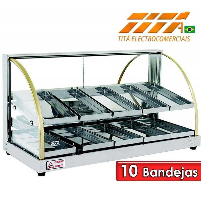 Exhibidor de Alimentos Doble de 10 Bandejas - Tita - W10BD