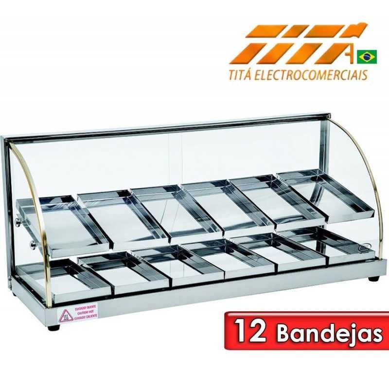 Exhibidor de Alimentos Doble de 12 Bandejas - Tita - W12BD
