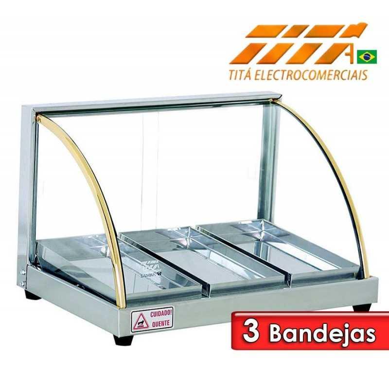 Exhibidor de Alimentos de 3 Bandejas - Tita - W3B