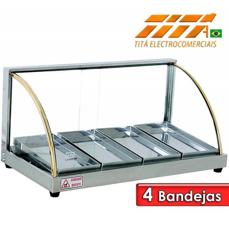 Exhibidor de Alimentos de 4 Bandejas - Tita - W4B
