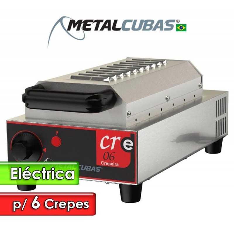 Crepera Eléctrica de 6 Unidades - Metalcubas - CRE-06