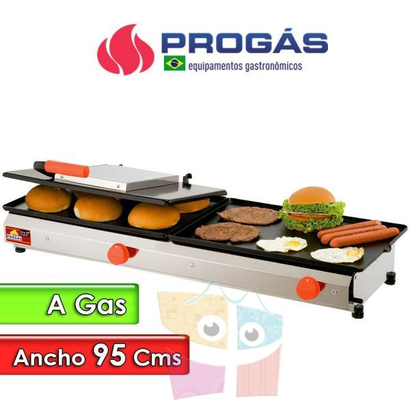 Plancha Hamburguesera a Gas de 95 Cms. - Progas - PR-950 GN
