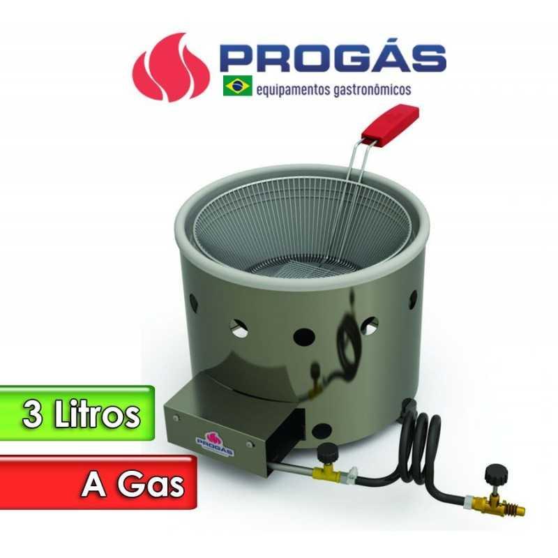 Freidora a Gas de 3 Litros Tacho Redondo - Progas - PR-310 G