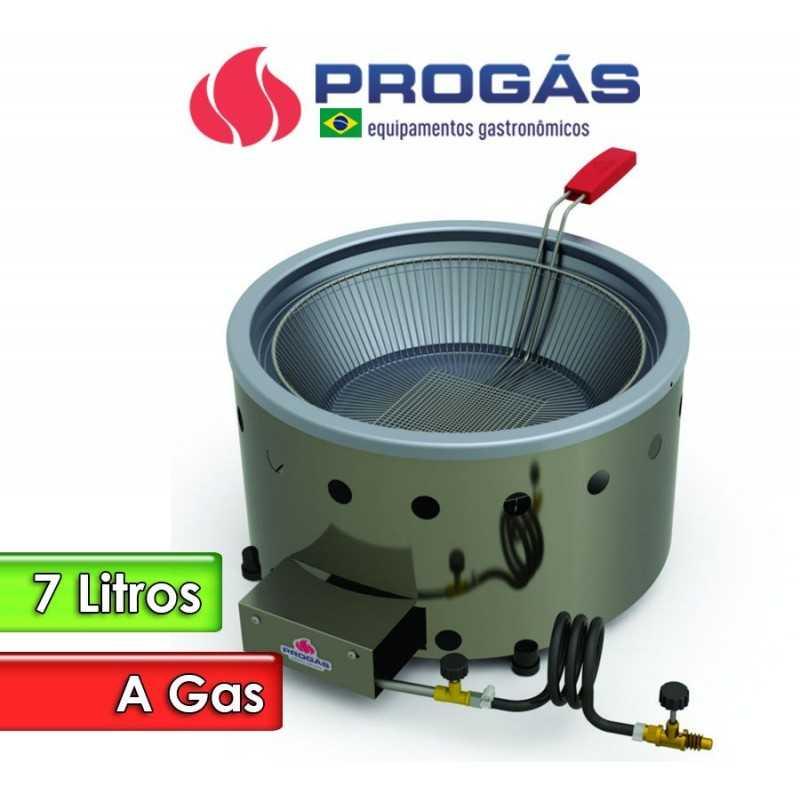 Freidora a Gas de 7 Litros Tacho Redondo - Progas - PR-70 G