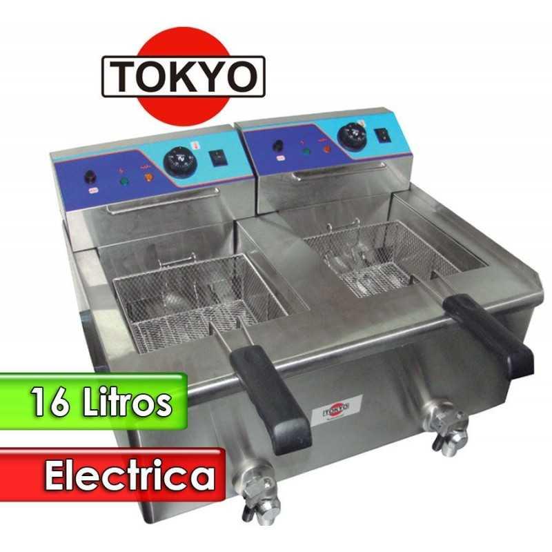 Freidora Electrica de 2 tanques de 8 Litros Tacho Rectangular - Tokyo - EF-12L2