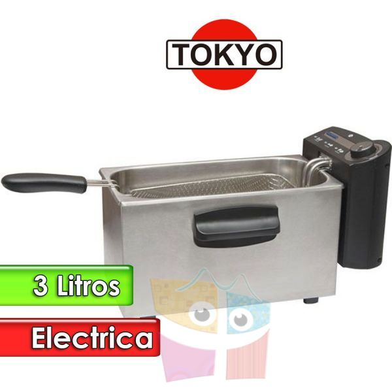 Freidora Electrica de 3 Litros Tacho Rectangular - Tokyo - EDTFRY3-N
