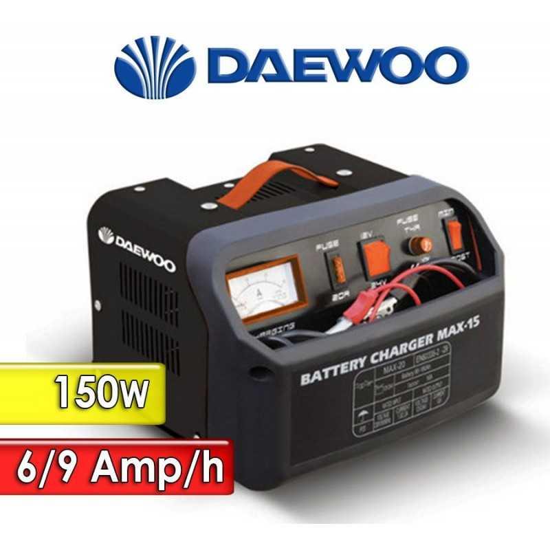 Cargador de Bateria 150 W y 6-9 Ah - Daewoo - DAMAX15