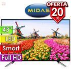 "TV Led Full HD 43"" Smart - Midas - TVS43M"