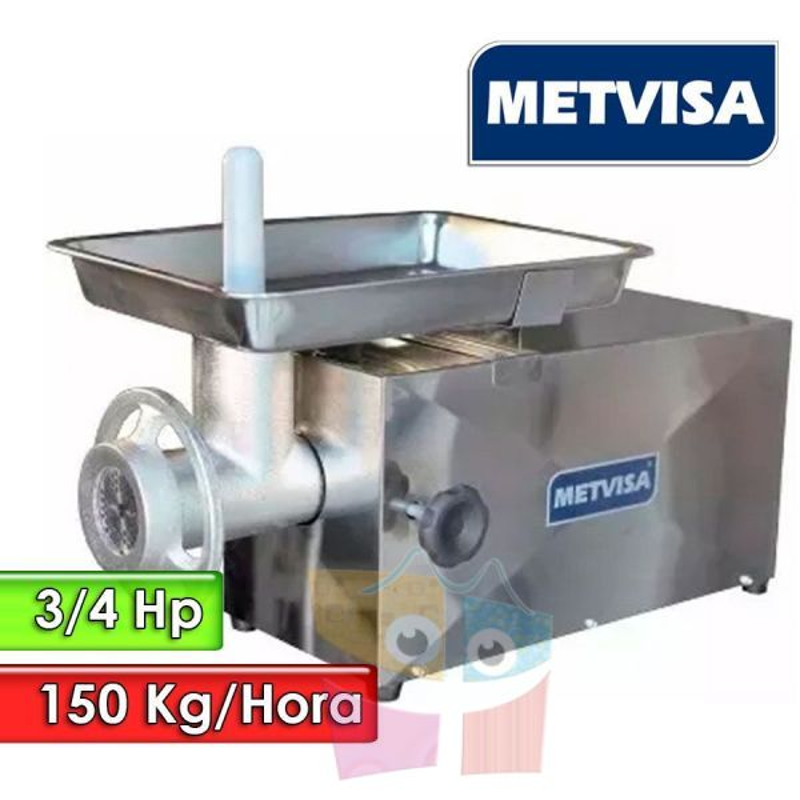 Molino de Carne 3/4HP 150 K/h - Metvisa - PCL-10