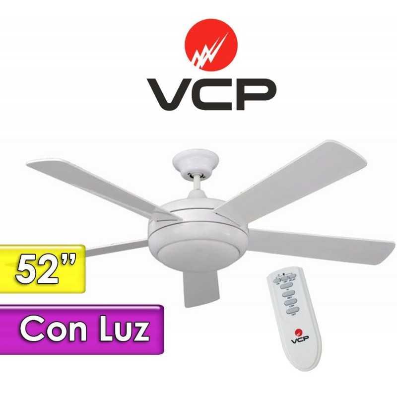 """Ventilador de Techo de 52""""  Con Luz - VCP - Arder Blanco VC052162"""