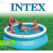 Piscina Intex - 886 Ltrs. - Redonda - Con borde inflable - 54402 / 28101