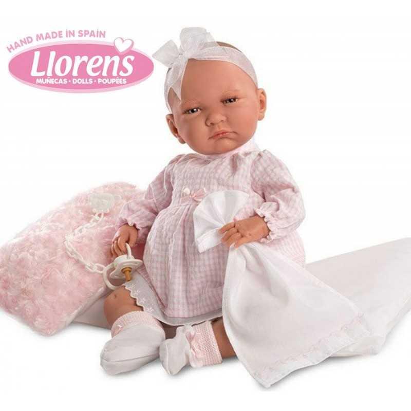 Muñeca Lala Llorona Vestido Rosa - Llorens - 42 cms - 74042